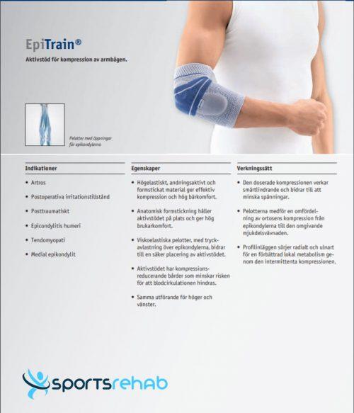 EpiTrain armbågsstöd Bauerfeind
