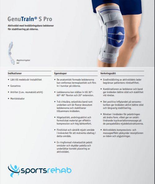 Knäskydd GenuTrain S Pro
