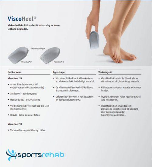 Hälinlägg ViscoHeel Bauerfeind Sportsrehab