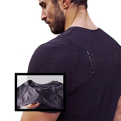 hållnings-t-shirt påminnelse tröja för bättre hållning för män