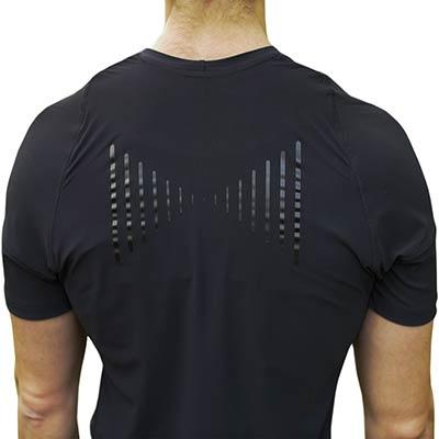 hållnings t-shirt för bättre hållning man