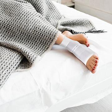 Nattstrumpa för hälsporre DS6 OS1st sova vit
