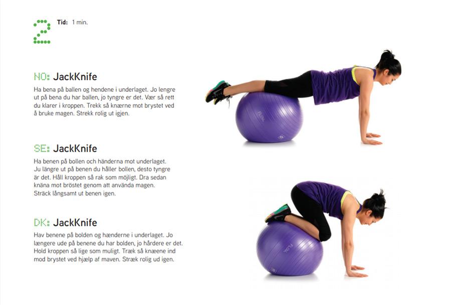 Fitnessboll övning 2 Sportsrehab