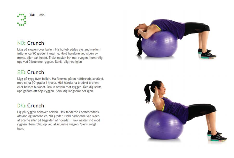 Fitnessboll övning 3 Sportsrehab