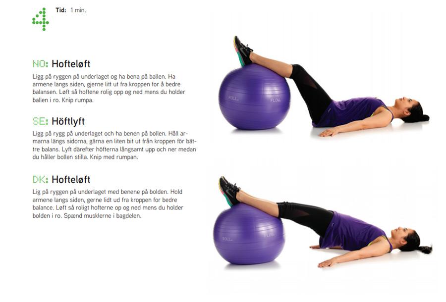 Fitnessboll övning 4 Sportsrehab