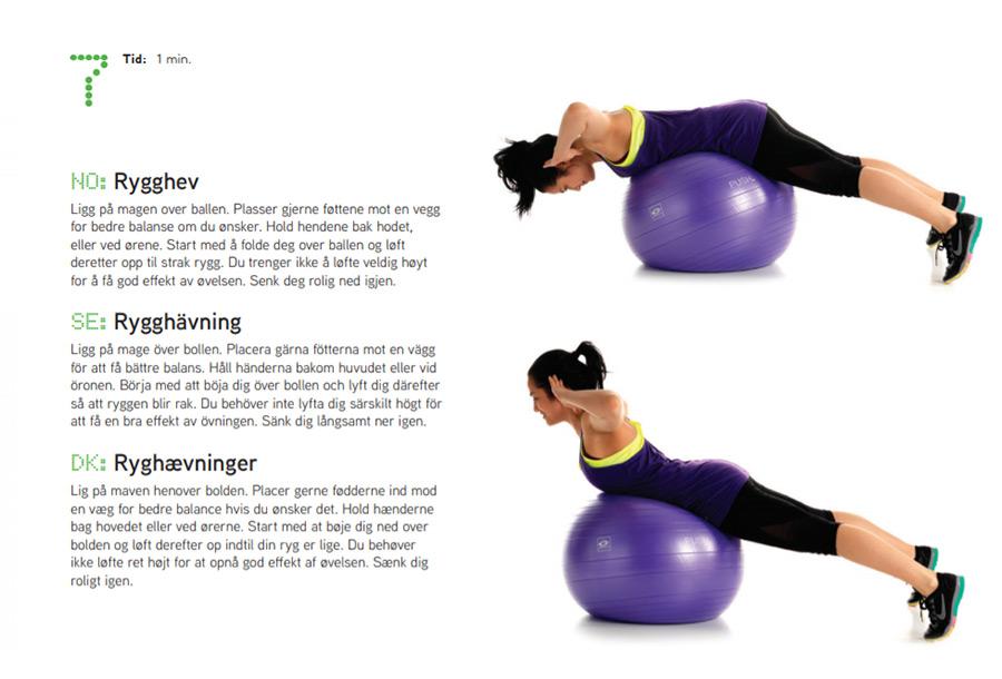 Fitnessboll övning 7 Sportsrehab